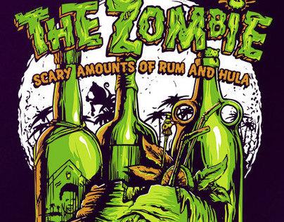 Brass Monkey - The Zombie -T-shirt Design.