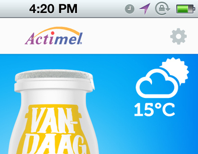 Promotional app design for Actimel (Danone)