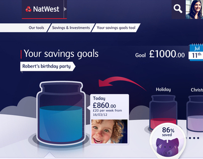 NatWest.com // Savings Jar concepts