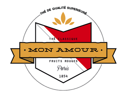 Mon Amour tea packaging