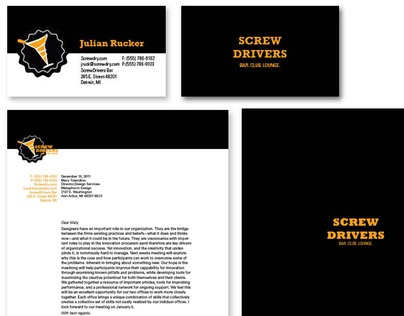 Screwdrivers Bar Identity System