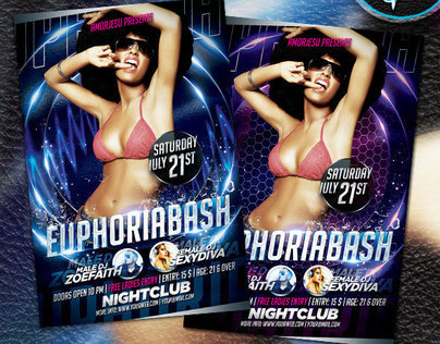 Euphoria Bash Flyer Template