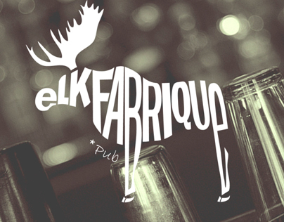"Logo design and corporate identity for ""E.F. Pub"""