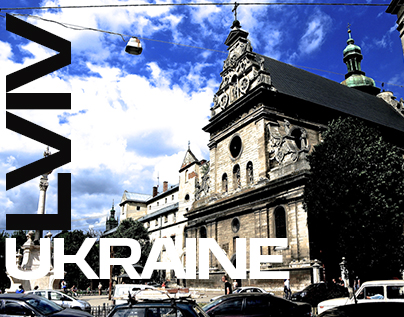 Lviv Ukraine - the city during waking up