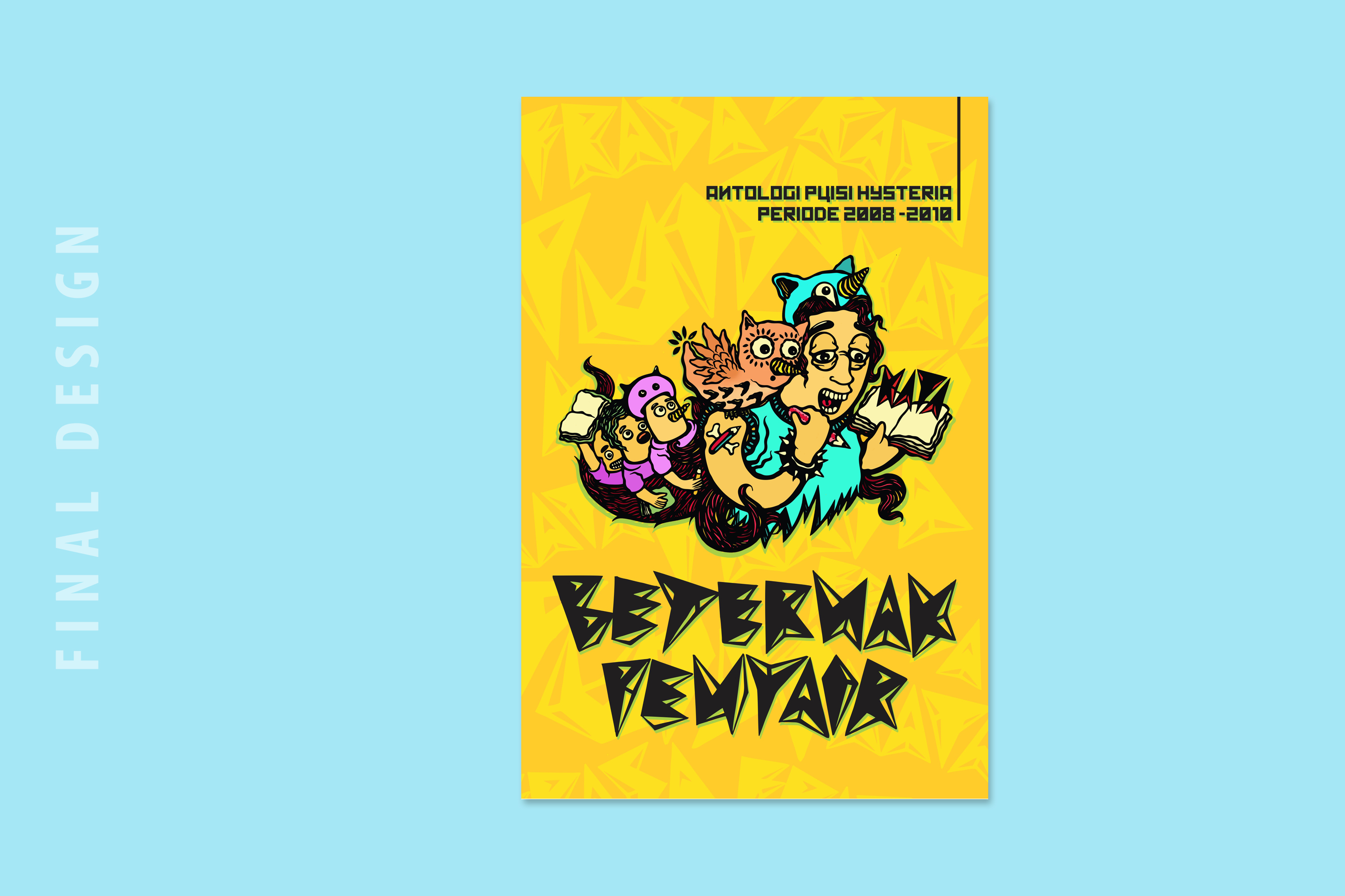 BETERNAK PENYAIR, a book cover project