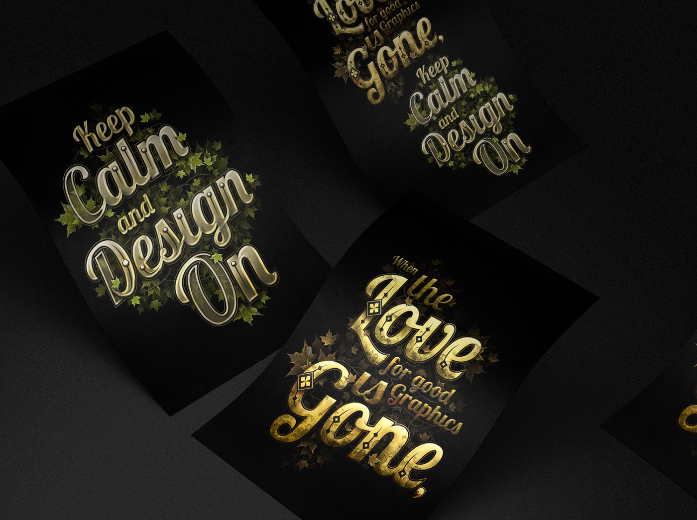 Keep Calm and Design On - Experimental Typography