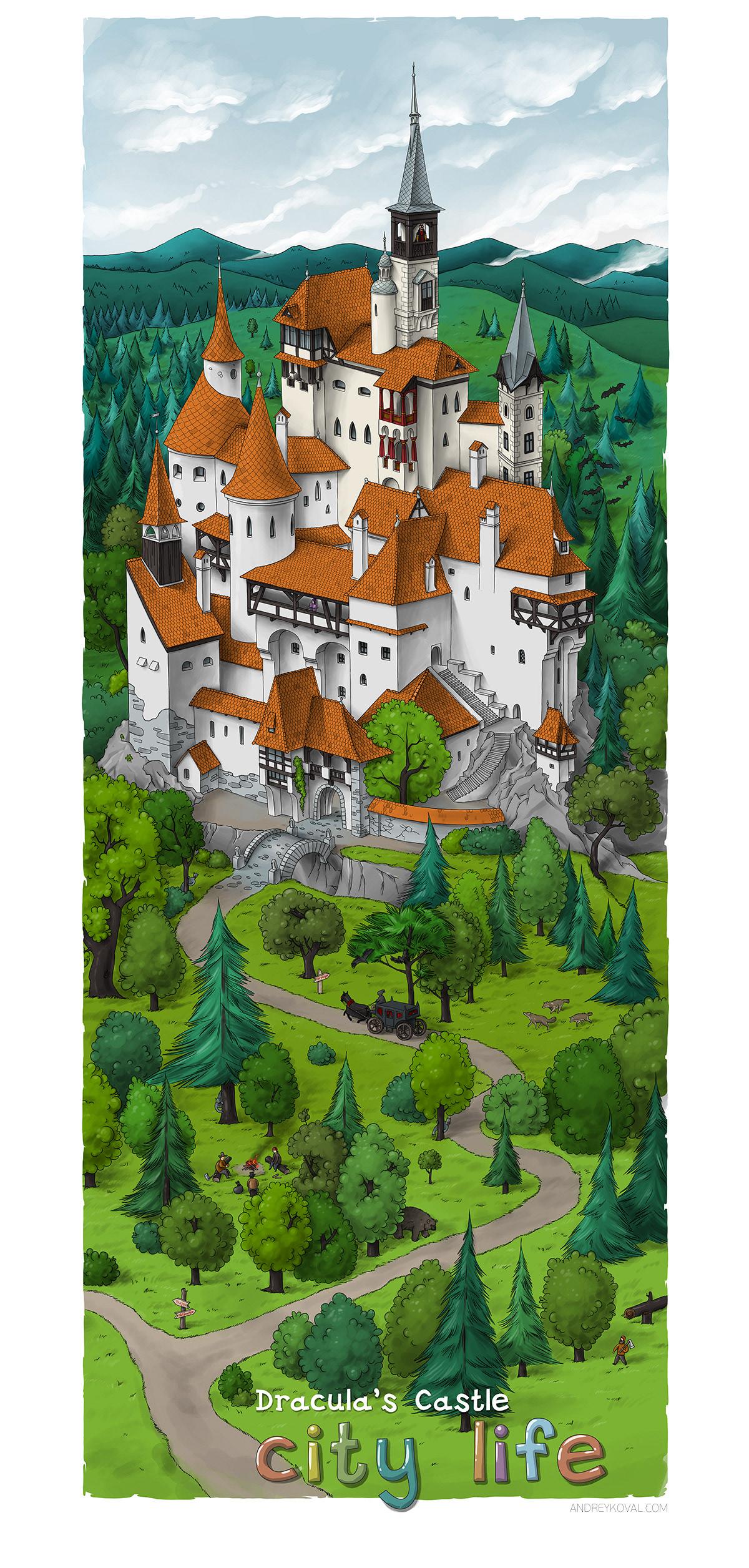City life. Draculas Castle