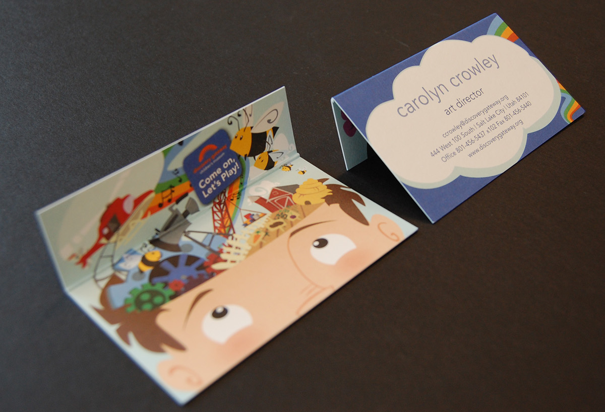 Discovery Gateway children's museum collateral redesign