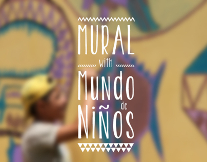 Mural with kids of Mundo de Ninos