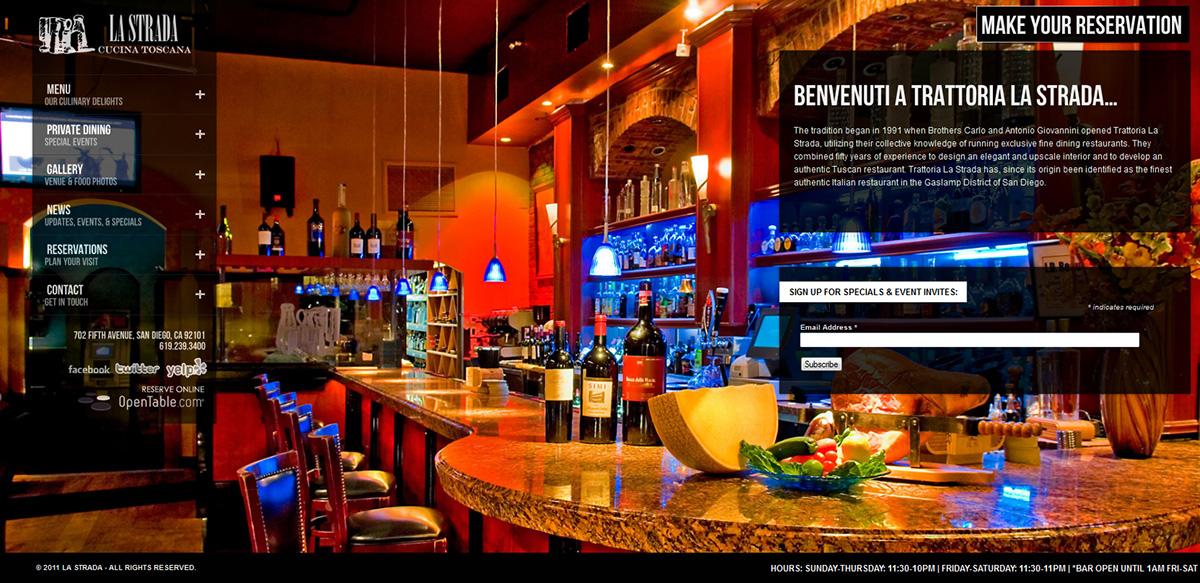 La Strada - Website Design