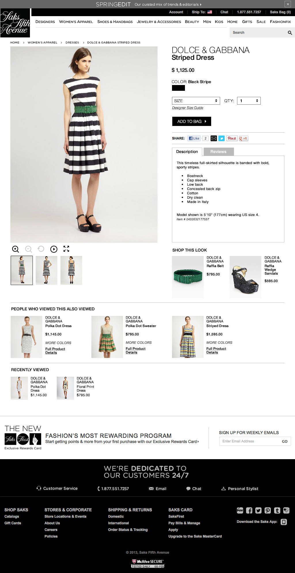 Saks Fifth Avenue - Website Comp