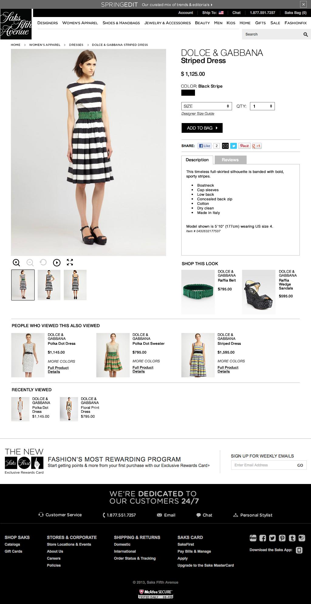 Saks Fifth Avenue - Website Comp