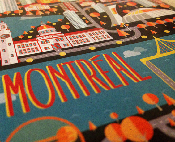 MONTREAL GUIDE COVER. FLAT DESIGN.