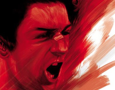 RAGING BULL painting