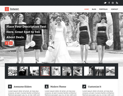 Intent Creative PSD Theme