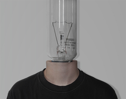 Man bulb - self-portrait