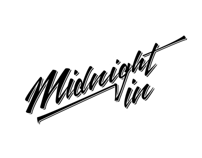 Midnight in custom lettering logotype