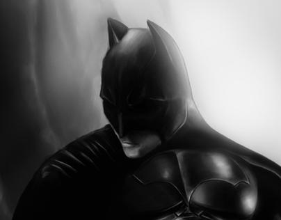 Dark Knight Drawing Process
