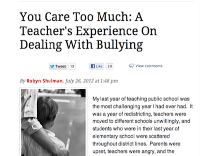 Article About Bullying