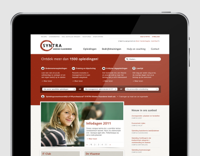 Syntra M-VL web design