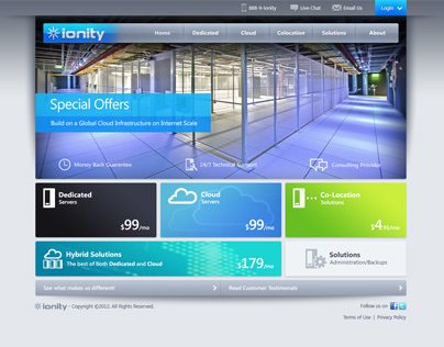 iOnity - USA Best Server Hosting Brand Website