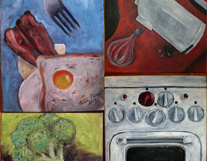 Kitchen Fun, Oil Paintings 2012