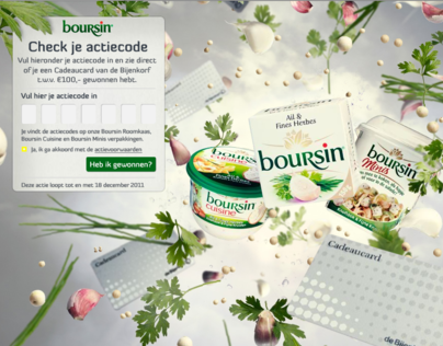 Promotional website design for Boursin