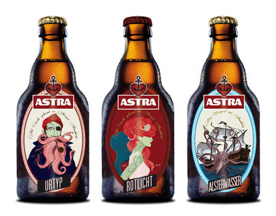 Restyling Label Astra beer