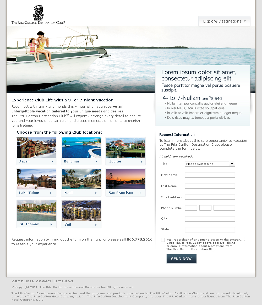 Ritz-Carlton Destination Club Marketing Campaign