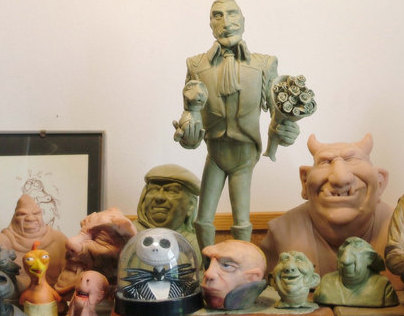 Group photo - My sculptures on a shelf in my studio
