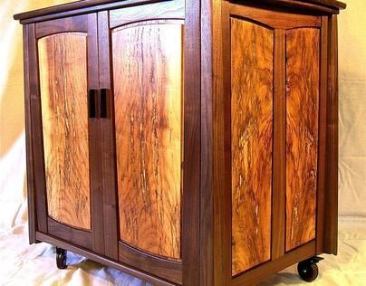 Walnut & Hickory Storage Cabinet