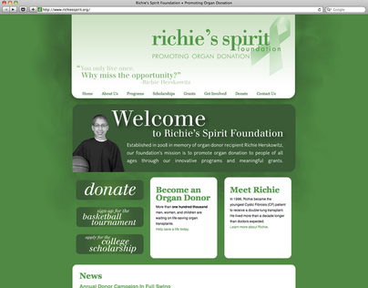 Richies Spirit Foundation Website