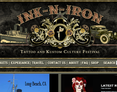 Graphic Design for Ink-N-Iron Kustom Culture Festival.