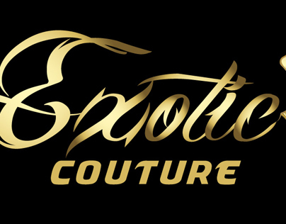 "Logo Design for "" Exotic Couture """