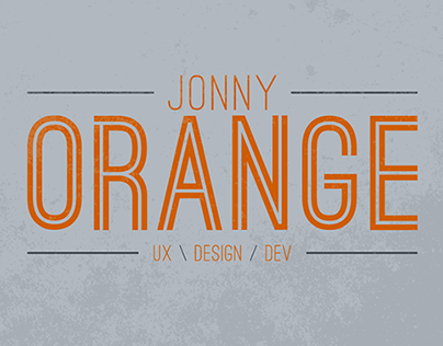 JONNY ORANGE