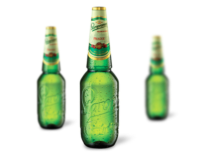 Staropramen 1L PET beer bottle