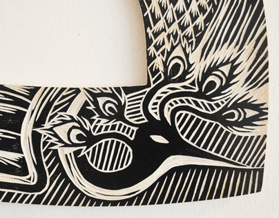 Fénix - Woodcut project for Walldesign