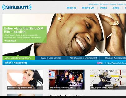 SiriusXM Website Redesign