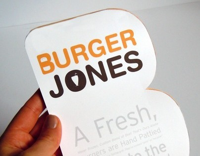 Burger Jones Menu Redesign