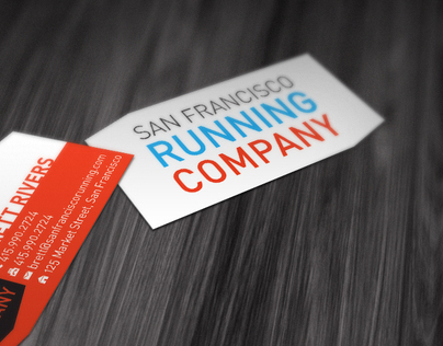 San Francisco Running Company Business Cards