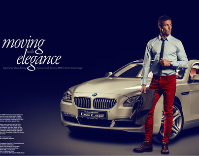 Layout for Rake Magazine BMW, IWC watches and Saks