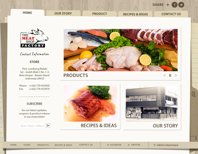 THE MEAT SHOP FACTORY - WEB DESIGN