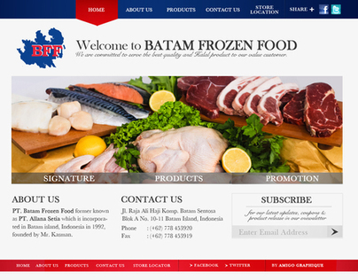 BATAM FROZEN FOOD - WEB DESIGN