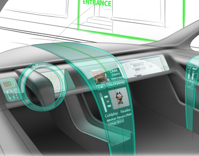 Waterfall Automotive Interior Dashboard