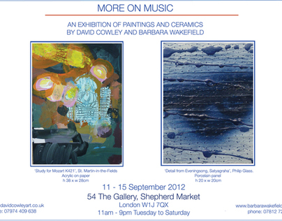 Exhibition of Paintings and Ceramics - More on Music