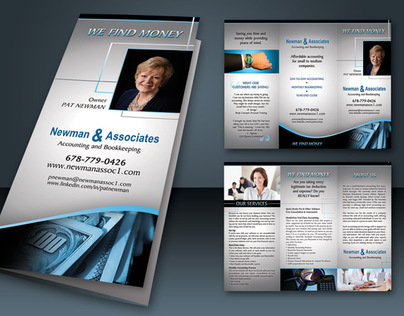 Financial Brochure & Business Card Design