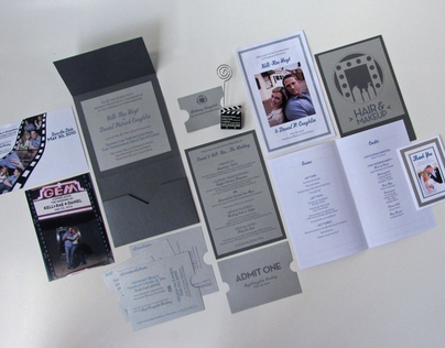 Wedding Invitation & Package - Hollywood Movie Theme