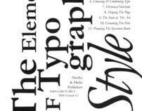 Elements of Typographic Style: a type study