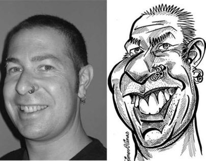 Caricatures from Photos - A4 black and white