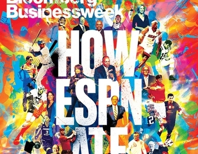 Bloomberg Businessweek Cover - 'How ESPN Ate Sports'